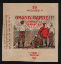 VERY OLD Collectible cigarette packet label #803